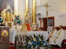 Wizyta ks. bpa Józefa Zawitkowskiego z okazji 80. urodzin parafianina Waleriana Szułczyńskiego