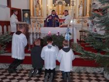 Promocja ministrantów: Piotra, Marcina i Mateusza